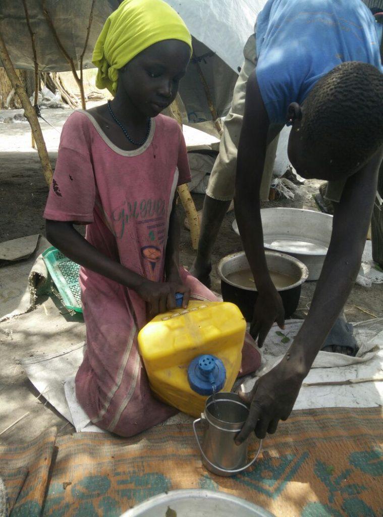 LifeSaver Cube used as water purifier in South Sudan