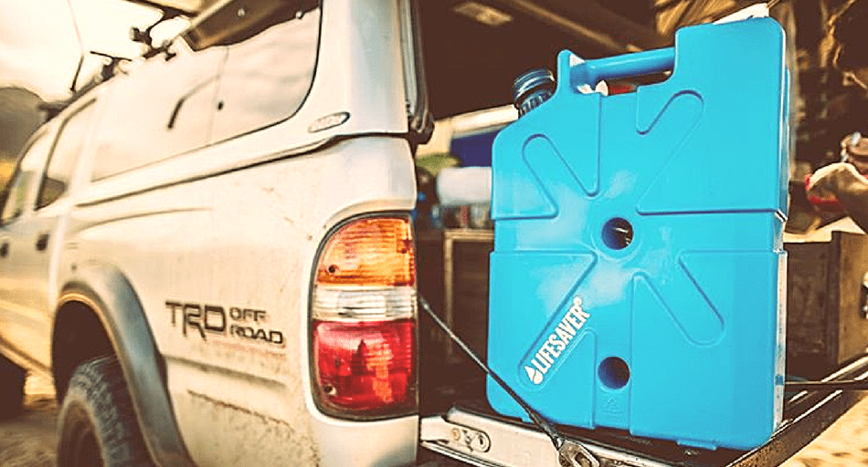 Jerrycan overlanding water purification