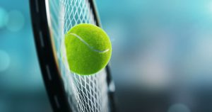 A tennis ball hitting a racket illustrates how hollow fibre membranes physically block virus, bacteria and protozoa in water purification